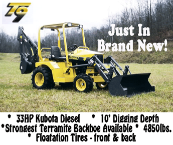 Mini Compact Backhoe Loader Terramte for those tight spots with not much room, this is the Machine!