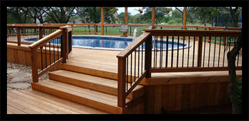 Building & contracting decks and fences and patio's around pools and Driveways and parking areas.