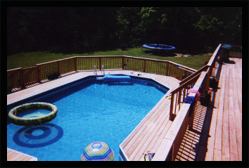 We Build decks and fences around any size pool areas with awesome workmanship, reliable dependable